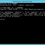 Restoring the Master Database